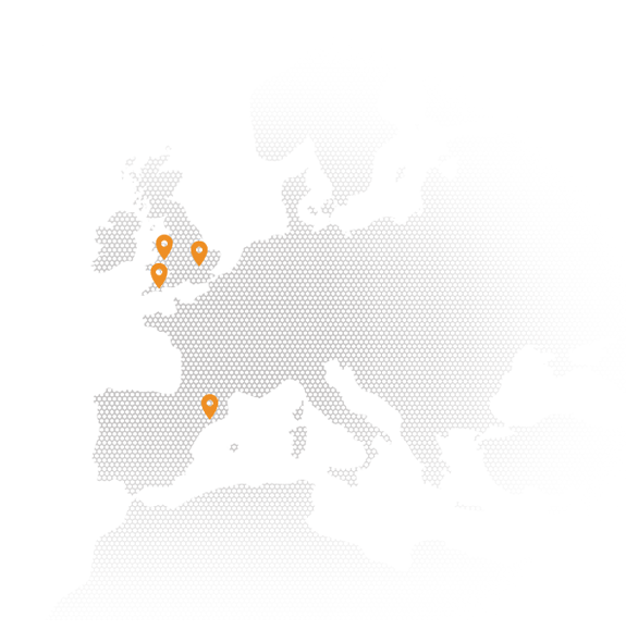 Map of Crowdcube's office locations